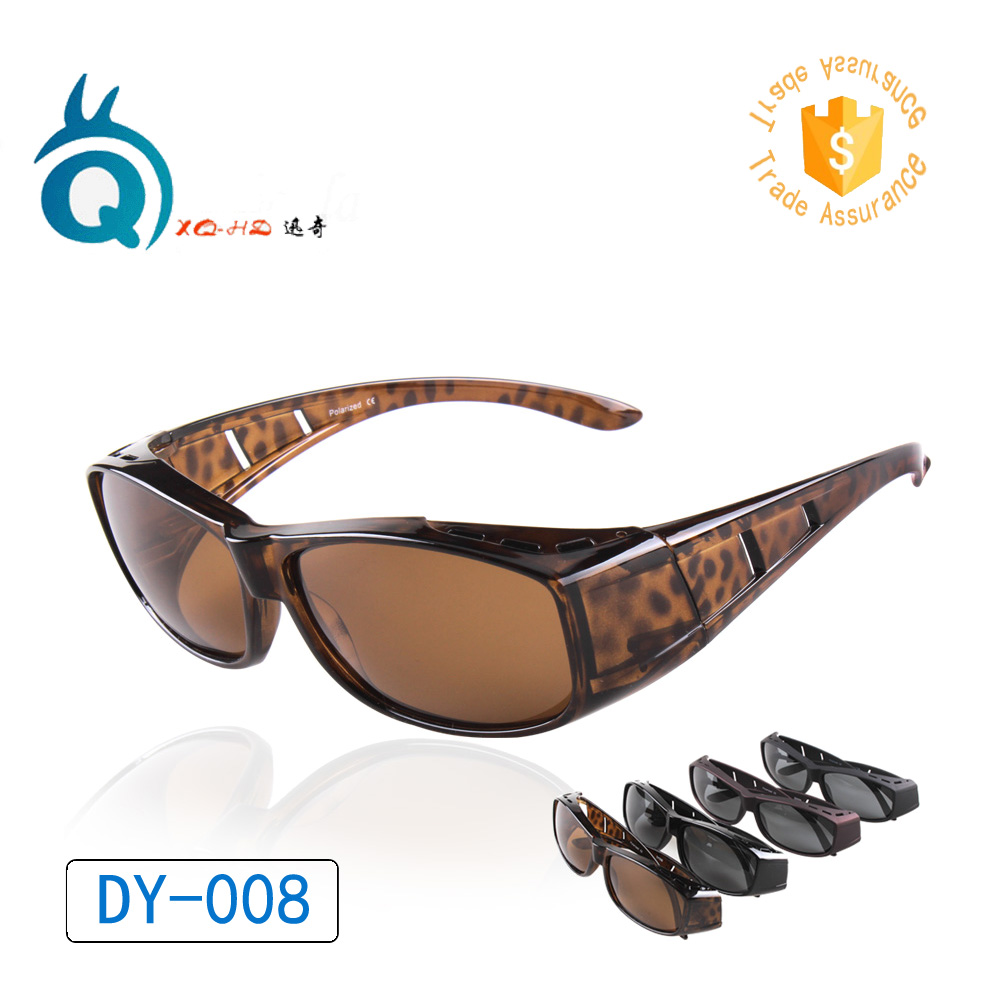 Dy008 wear over prescription glasses polarized lens covers for Polarized prescription fishing sunglasses