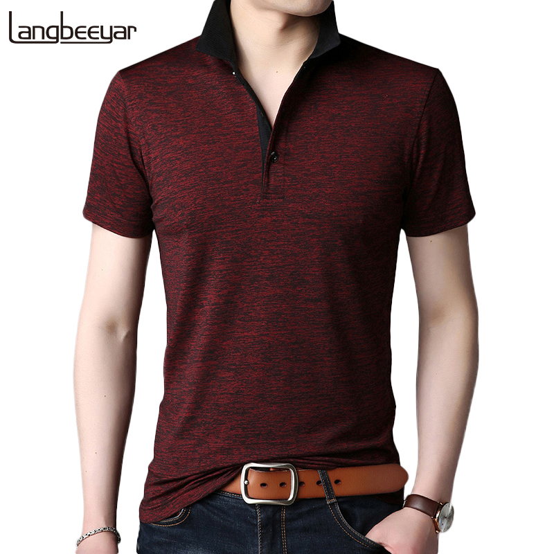 2019 Summer New Fashion Brands   Polo   Shirt Men Casual Breathable Slim Fit Men   Polo   Shirt Short Sleeve Solid Color Men Clothing