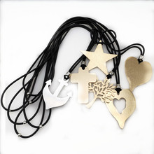 2019 New Arrival 6 Styles Necklace For Women Fashion Heart Star Neck Choker Pendants Chain  Casual Simple Jewelry Valentine Gift