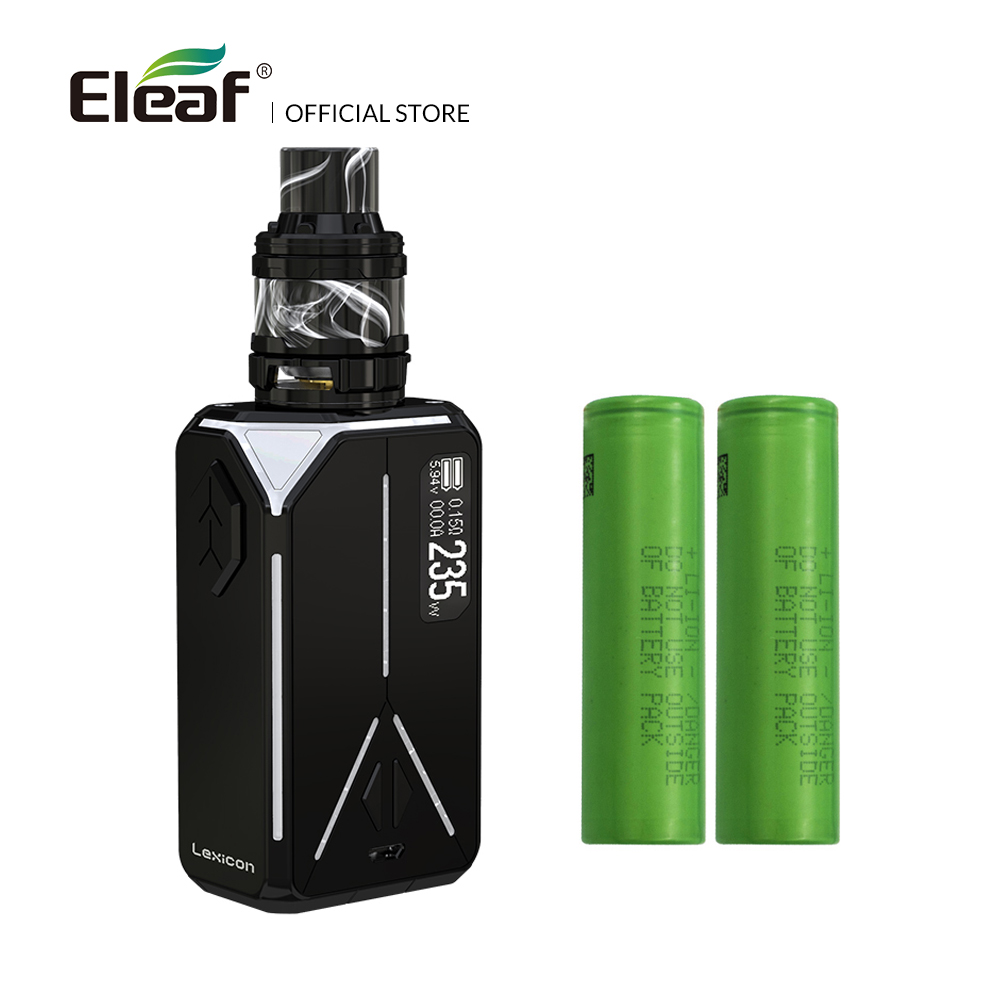 Original Eleaf Lexicon with ELLO Duro kit 6.5ml with 18650 battery HW-M/HW-N coil Output of 235W electronic cigarette vape original eleaf lexicon kit w 235w lexicon box mod