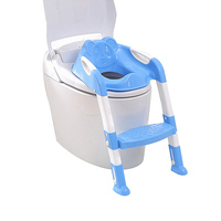 Baby Potty Training Seat Children's Potty Baby Toilet Seat With Adjustable Ladder Infant Toilet Training Folding Seat for Kids