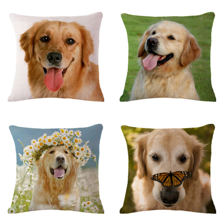 Power Source Xunyu Linen Pillowcase Home Sofa Square Pillow Cover Cute Animal Pattern Decorative Cushion Cover 45x45cm Ac030 Attractive Appearance