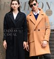New Winter Natural Wool Coat Men High Quality Business Long Trench Coat 60% Real Wool Outerwear Warm Pea Coat Plus Size A1498