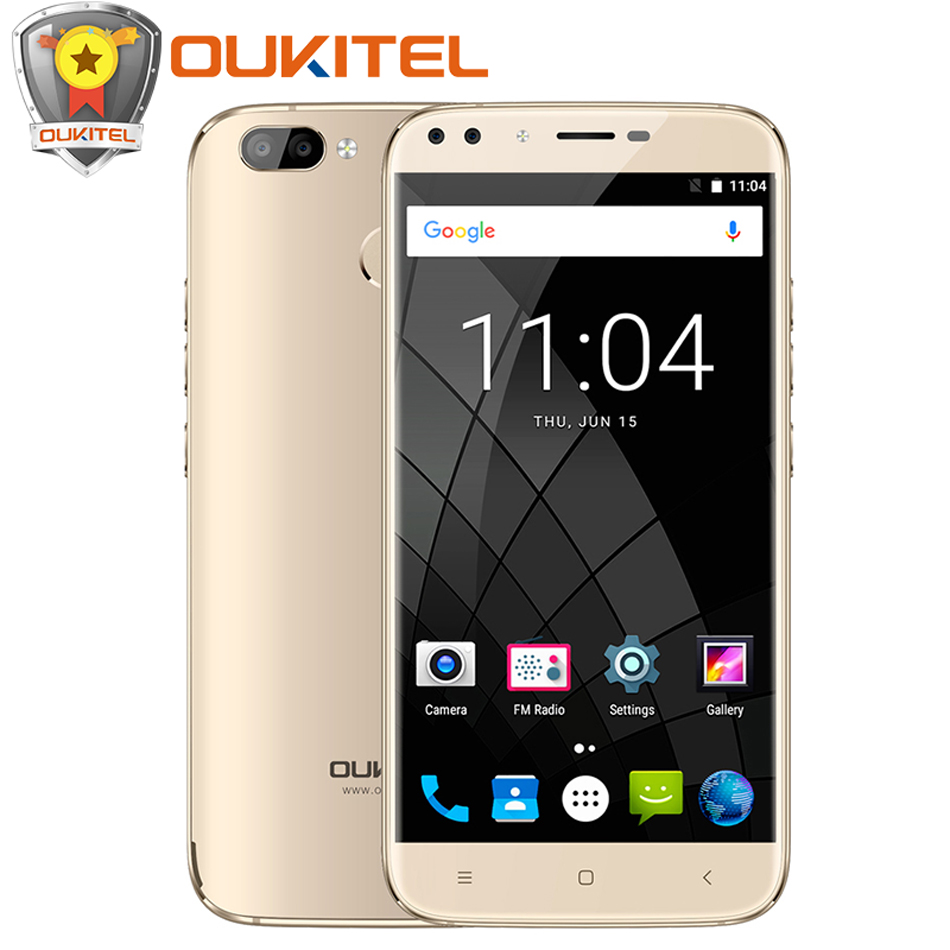 Oukitel U22 Four Cameras Smartphone MTK6580A Quad Core Android 7.0 2GB RAM 16GB ROM 5.5″ 8MP Fingerprint ID 2700mAh Mobile Phone