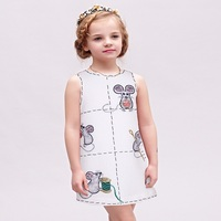 Girls Princess Dress 2017 Brand Children Costume For Kids Party Dresses With Mouse Printed Vestidos Infantis