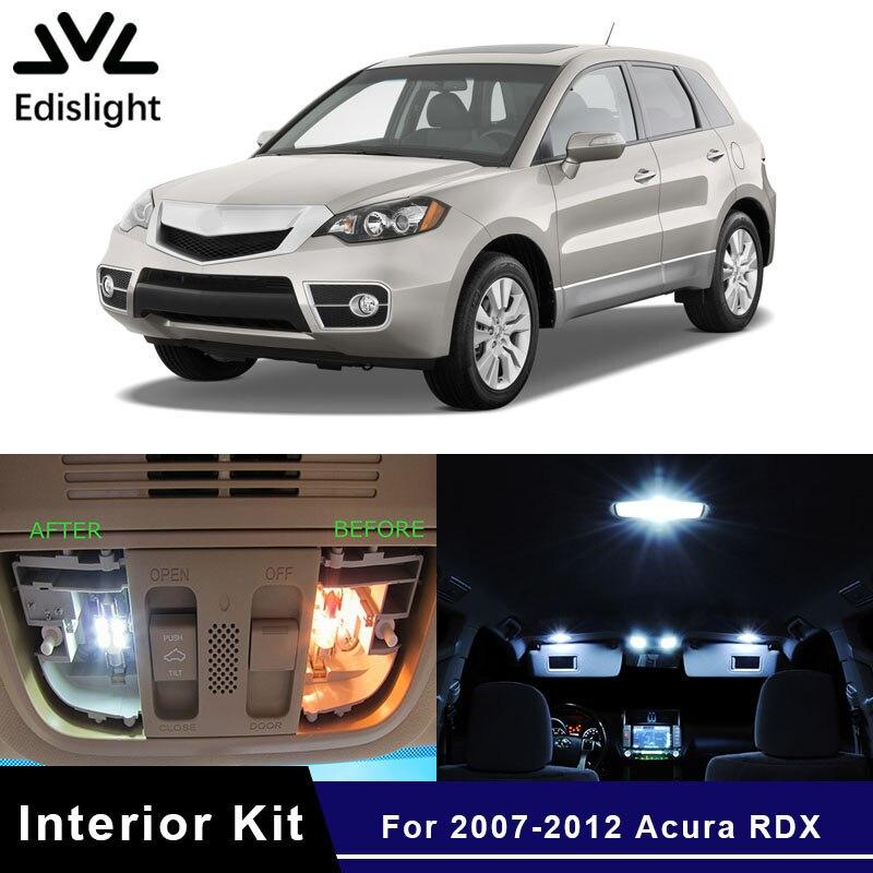 Edislight 10pcs White Ice Blue LED Car Light Interior