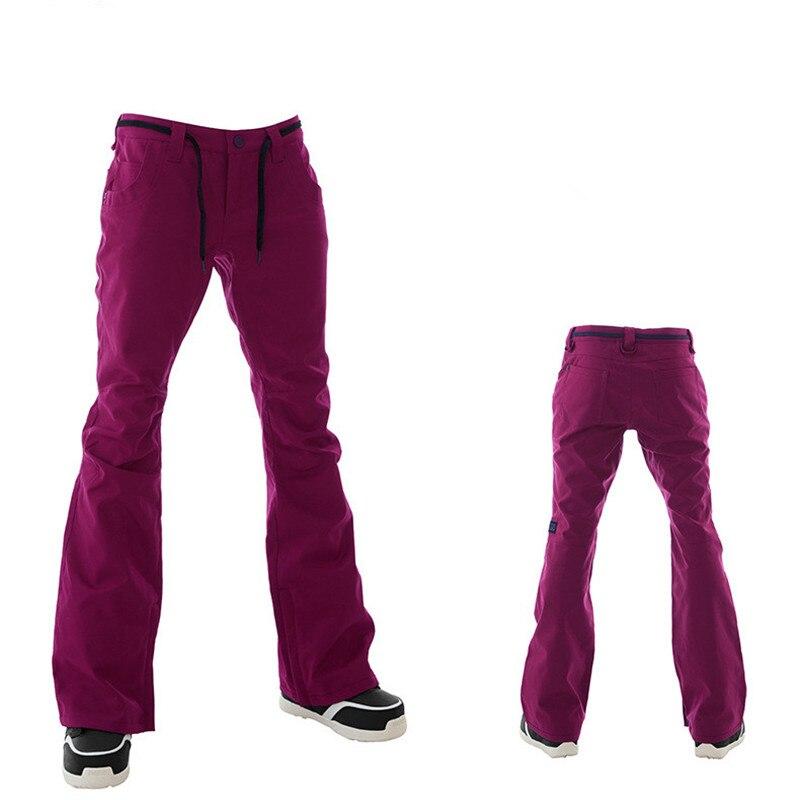 GSOU pantalon de Ski de neige femmes snowboard hiver extérieur coupe-vent pantalon de Ski nouveau chaud respirant plus épais coton de haute qualité - 4