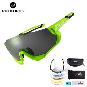 2b846cefc8 ROCKBROS los 2019 ciclismo gafas polarizadas bicicleta UV400 deportes al  aire libre correr gafas de sol