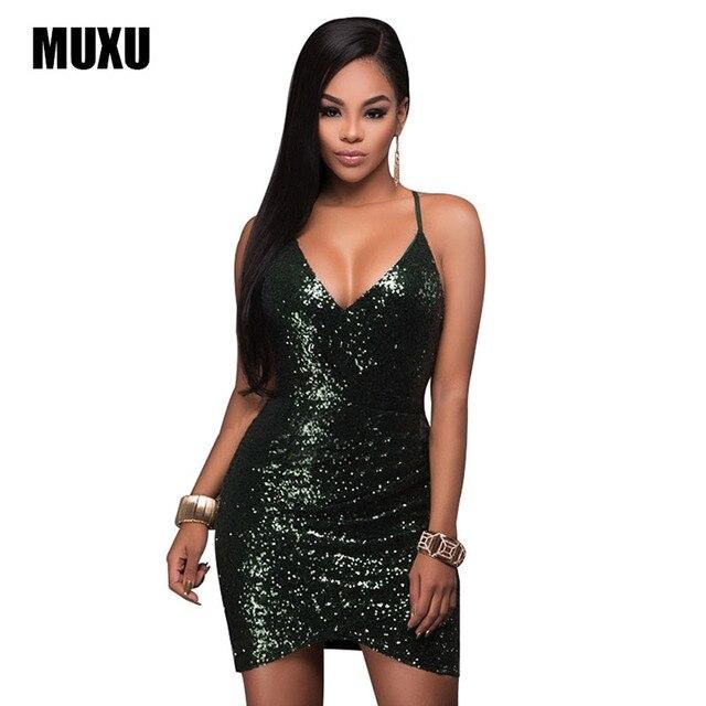 sexy green sequin dress fashion suspender dress bandage elbise women  clothing vestido de festa woman clothes sukienka glitter 8300a3f46ae8
