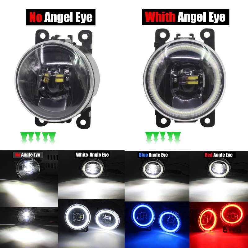 Cawanerl For Opel Agila (B) (H08) Hatchback 2008-2015 Car LED Lamp 4000LM H11 Fog Light Angel Eye Daytime Running Light DRL 12V