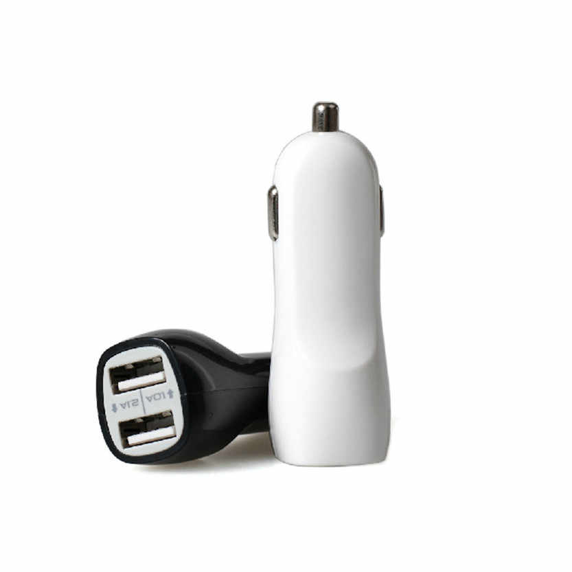Car-styling 3.1A Mini Dual 2 Port USB Car Charger Adapter for Smart Mobile Cell Phone  July17#2