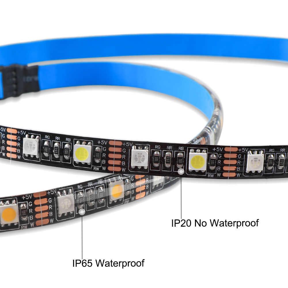50CM 1M 2M 3M 4M 5M RGBW RGBWW a mené la bande menée par USB 5V de lumière de bande avec le contrôleur d'ir 40Key pour la lumière de fond de PC de TV
