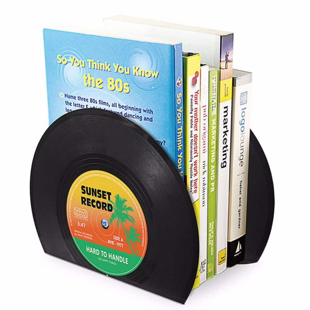 1 Para Klassischen Künstlerischen Vinyl-förmigen Buchstütze Für Bürobedarf & Dekoration Ohne RüCkgabe