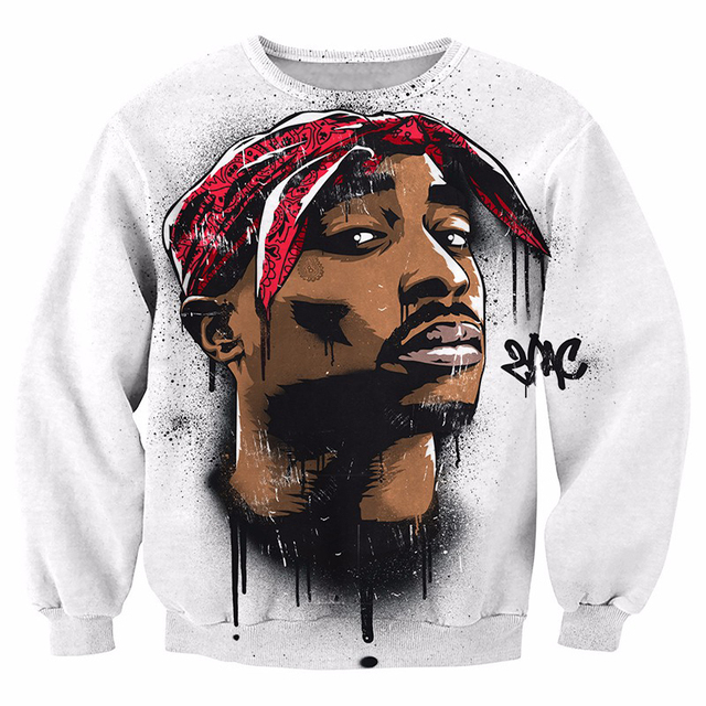 New Arrive Harajuku 2Pac Tupac Sweatshirt Men Women Long Sleeve Outerwear Biggie Smalls Sweatshirts Crewneck Pullovers