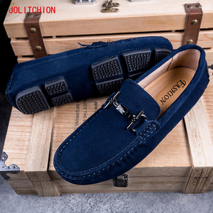 Image 1 - Hot sale Brand Men Loafers Mens Casual Shoes Suede Leather Mocassim Masculino Breathable Slip on Boat Shoes Chaussures Hommes