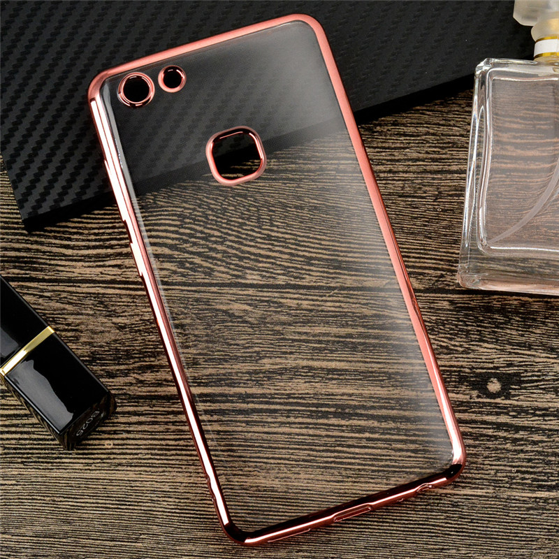 Luxury Plating Clear TPU Phone Bag For VIVO V7 Case Silicon Transparent 360 Full Cover For BBK VIVO Y75 Ultra Thin Coque (L0112)