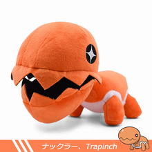 купить 1Pcs 22cm Anime Poket Trapinch Soft Plush Doll Stuffed Animal Kids Toys Kawaii Cartoon Peluche Toys Gift For Children Collection дешево