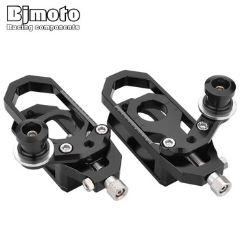 BJMOTO CNC Motocross Accessories For Yamaha YZF R6 YZF-R6 2008-2015 Motorcycle Chain Adjusters Tensioners Catena with Spools
