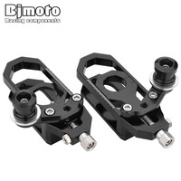 BJMOTO CNC Motocross Accessories For Yamaha YZF R6 YZF R6 2008 2015 Motorcycle Chain Adjusters Tensioners Catena with Spools