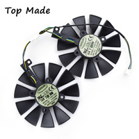 2pcs Set T129215SU For ASUS STRIX GTX970 980780 STRIX R9285 GTX 1060 Fan
