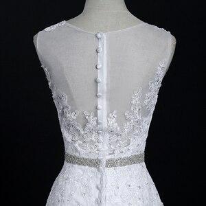 Image 5 - Fansmile Neue Vestido De Noiva Weiß Spitze Meerjungfrau Hochzeit Kleid 2020 Zug Plus Größe Angepasst Hochzeit Kleid Braut Kleid FSM 580M