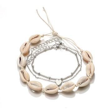 Vintage Boho Shell Jewelry Multilayer Shell Anklets For Women Bracelet Shell Leg Bracelet 2019 DIY Jewelry Accessories Wholesale 4