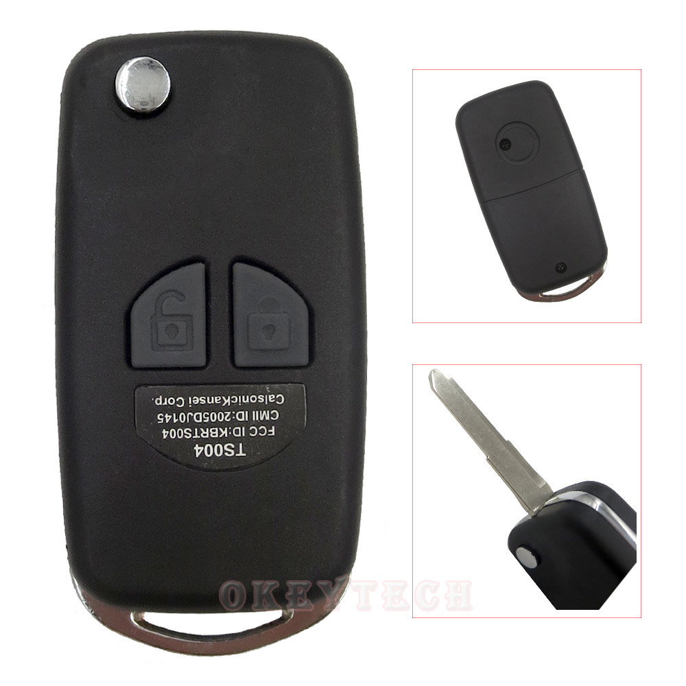 OkeyTech Modified Flip Folding Remote Car Key Shell For Suzuki Swift Grage Vitara Alto Auto Accessories 2 Buttons Key Case Cover