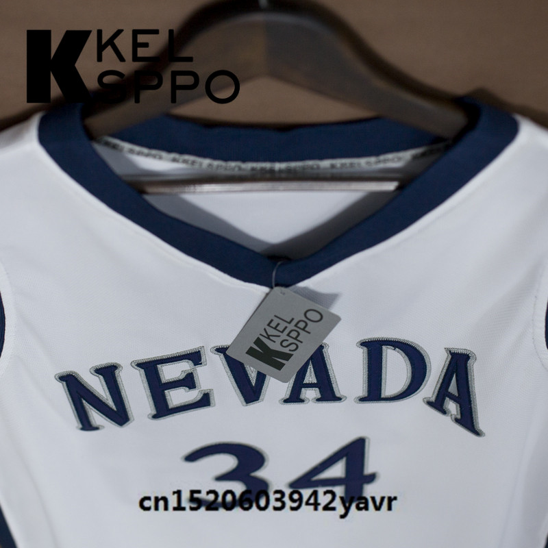 ... Custom Adult Throwback Basketball Jerseys 34 JaVale McGee Nevada  University Embroidered Basketball Jersey Size XXS 6XL . 3b699063c