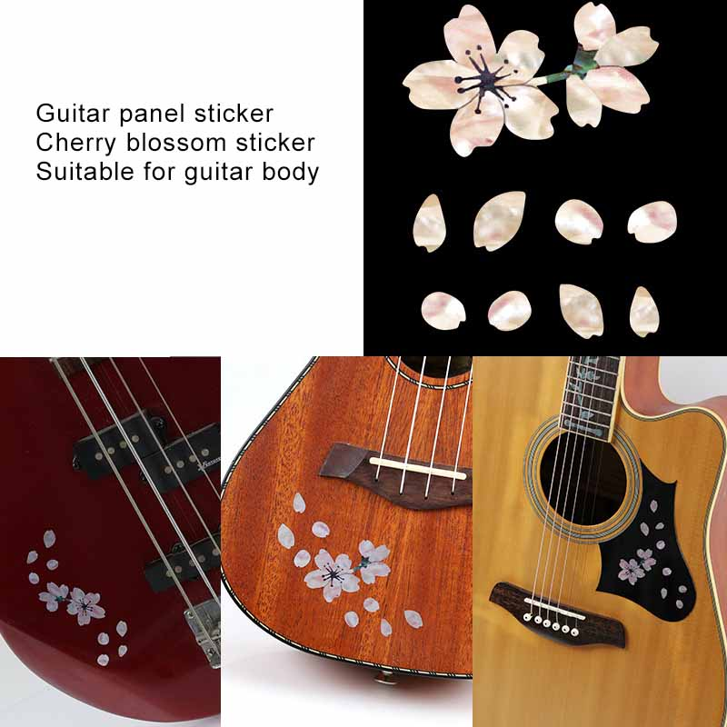 Competent Yueko Guitar Panel Sticker Diy Cherry Tree Color Shell Fingerboard Sticker With Petals Ukulele Bass Sticker Guitarra Accessories Sales Of Quality Assurance Sports & Entertainment