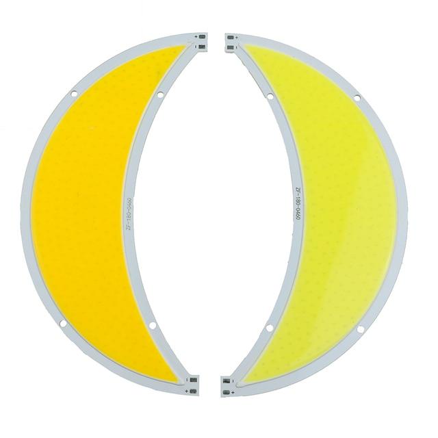 COB LED 60W Moon shape Flip COB led panel lights led lamps Warm white / white DC12V 14V L180MM used for street light 1PCS