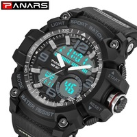 PANARS S Shock Sport Digital Watch Men Military Waterproof Mens Watches Led Display Clock Chronograph Wrist Watch reloj hombre