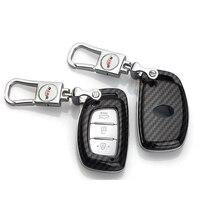 Shell de Reemplazo llave del coche modificado Plegable Flip Cáscara Dominante Alejada Del Coche caso 3 Botón para Hyundai clave bolsa Iix25 Tucson aceptar