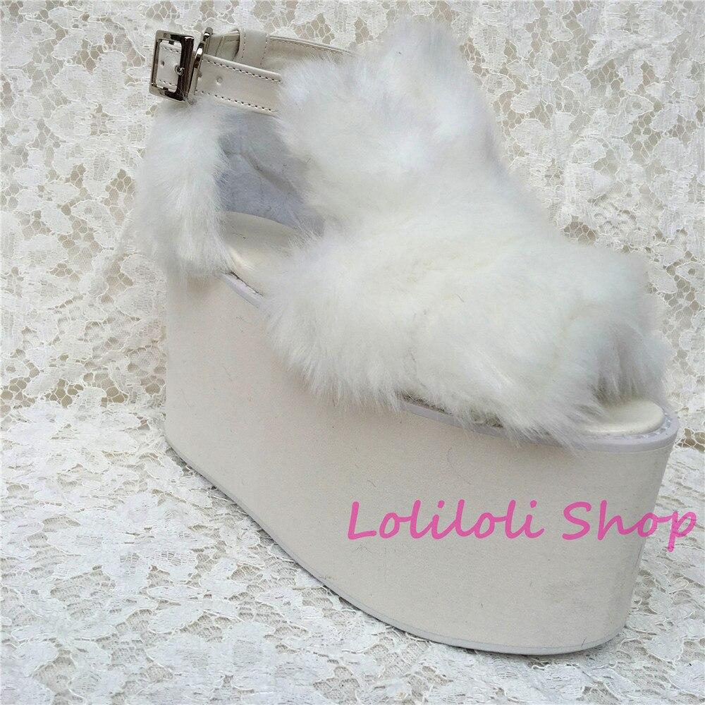 1 Princesse Fond Plat Épais Avec Plate En Lolilloliyoyo Imitation forme Renard Chaussures An5210 Antaina Personnalisé Multi blanc Lolita De Blanc Fourrure Daim Douce qrY7wqR