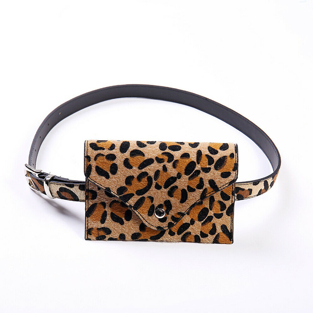 Leopard PU Leather Women's Belt Bag Fashion Travel Waist Bag Mini Bag Heuptas Fanny Pack