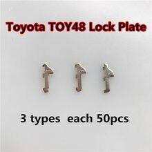 TOY48 lengüeta de bloqueo de coche MATERIAL DE LATÓN Placa de bloqueo para Toyota Crown nuevo Lexus kit de reparación de cerraduras (3 modelos) Total 150 Uds