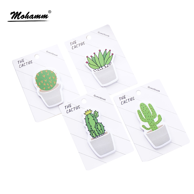30sheets/lot Cute Cactus Sticky Notes Cartoon Memo Pad Post It Paper Sticker Stationery Office Accessories School Supplies