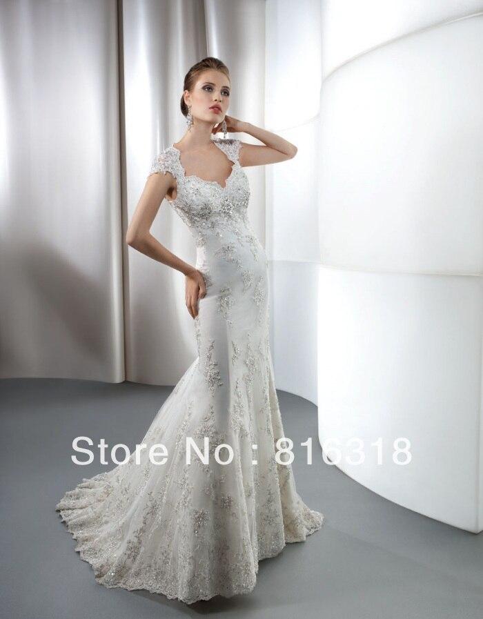 Vestido de noiva 2017 white open back lace mermaid wedding for Unique wedding dresses 2017