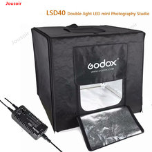 Godox LSD40 Portable Foldable Photo Studio Softbox Light Room Box Tabletop Shooting Tent Built In LED Light Soft Box CD50 T03(China)