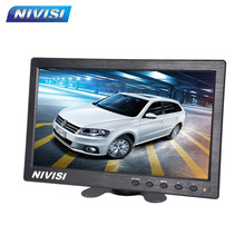 Display Monitor 10 Inch Color TFT 16:9 LCD Car Rearview Monitor for BNC/AV Camera VCR video Super Slim DC 12V