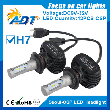 H7 Single Beam DC9V-32V Seo-CSP 4000LM 6000K Car Led Headlight For Volvo C70 Feb-98/ S80 Feb-99/ S40/ V40/ S60/ V70/ S70