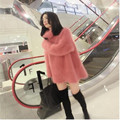 Europe /the United States long winter sweater imitated mink wool turtleneck set of the first women's sweaters Warm big