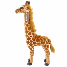 JESONN Realistic Stuffed Animals Giraffe Soft Plush Toys Deer for Children's Birthday Gifts