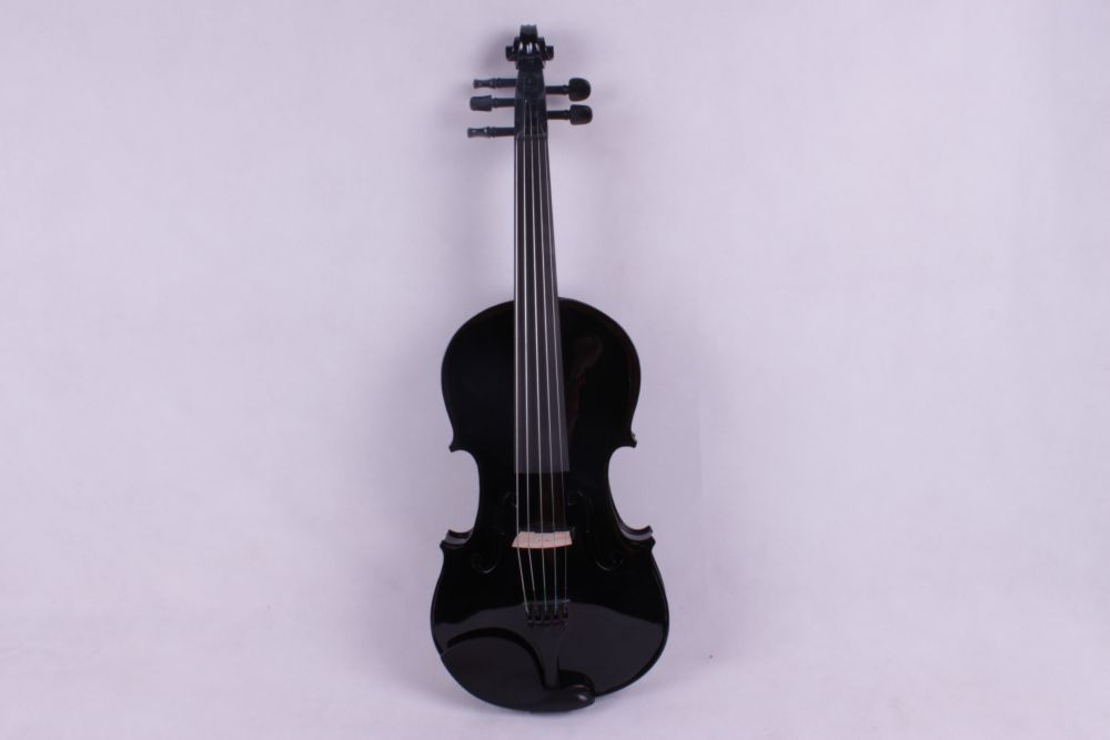 black  5 -String 4/4 New Electric Acoustic Violin  color   #1-2541# handmade new solid maple wood brown acoustic violin violino 4 4 electric violin case bow included