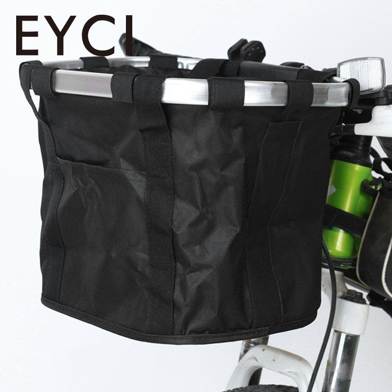 Bicycle Basket Bicycle Aluminum Alloy Frame Bike Detachable Cycle Front Carrier Bag Pets Cat Seat Dog Carrier цена