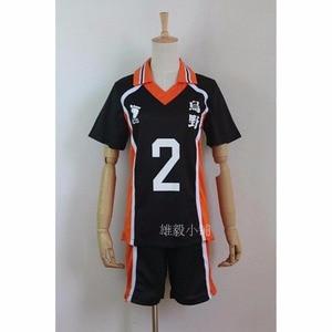 Image 3 - Haikyuu Cosplay Costume Karasuno High School Volleyball Club Hinata Shoyo Sportswear Jersey Uniform