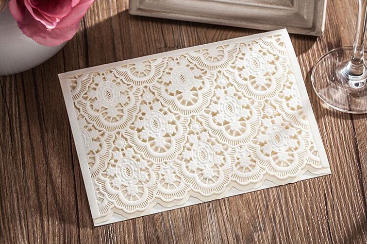 Wedding Invitations With Response Cards And Envelopes: High Quality Wedding Invitation Card White 130*185mm