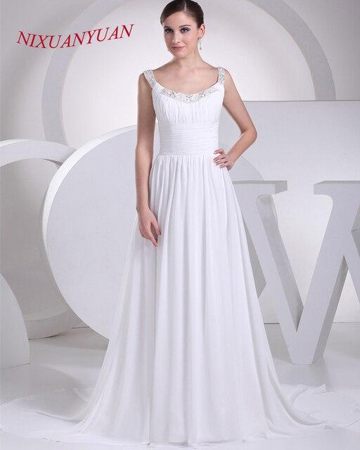 goedkope witte lange jurk