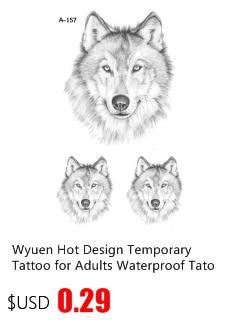 5pc Tibetan Silver Wolf Head Animal Pendant Bracelet Charms Jewelry Crafts G1143