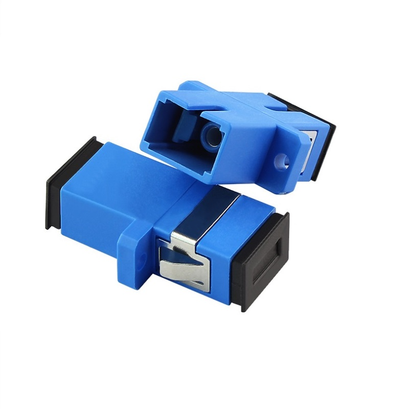 100pcs SC/UPC SC PC SC Connector SC Adapter Fiber Optic Adapter, Fiber Optic Connector Simplex Singlemode