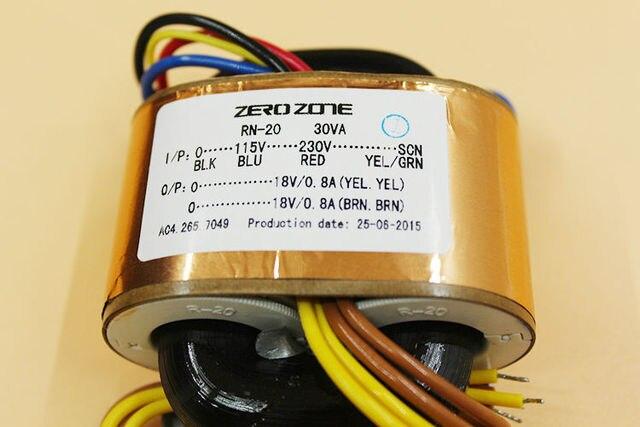 2015 NEW ZERO-ZONE 30VA R-core Transformer 115/230V to 0-18V 0-18V 1A L159-13